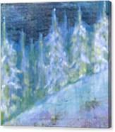 Bend Snow Trees Canvas Print