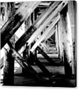 Beneath The Docks Night Canvas Print