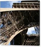Beneath The Eiffel Tower Canvas Print