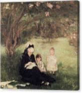 Beneath The Lilac At Maurecourt Canvas Print