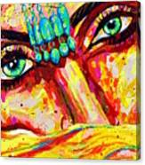 Exotic Desert Eyes Painting, Beneath The Niqab Canvas Print