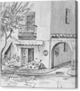 Benidorm Spain Store Front Canvas Print