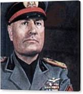 Benito Mussolini Color Portrait Circa 1935 Canvas Print