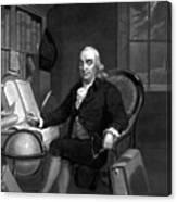 Benjamin Franklin -- The Scientist Canvas Print