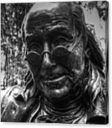 Benjamin Franklin Memorial Canvas Print