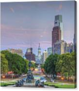 Benjamin Franklin Parkway City Hall Canvas Print
