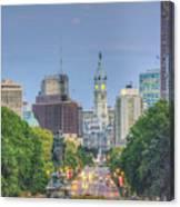Benjamin Franklin Parkway City Hall Vertical Canvas Print