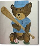 Benny Bear Baseball Canvas Print