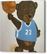 Benny Bear Basketball  Canvas Print