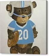Benny Bear Football Canvas Print