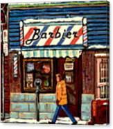 Bens Barbershop Canvas Print