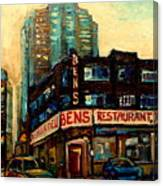 Bens Restaurant Deli Canvas Print