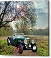 Bentley On A Country Road Canvas Print