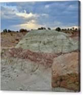 Bentonite Dunes Along Little Park Road Canvas Print