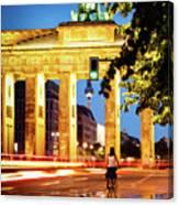 Berlin - Brandenburg Gate At Night Canvas Print