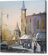 Berlin Clock Tower Canvas Print