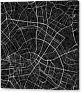 Berlin Germany Dark Map Canvas Print