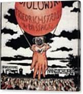 Berlin Potolowsky - Friedrichstrass Passage - Germany - Retro Travel Poster - Vintage Poster Canvas Print