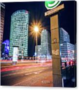 Berlin - Potsdamer Platz Square At Night Canvas Print