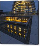 Reichstag Dome Terrace #1, Berlin, Germany Canvas Print