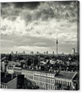 Berlin Skyline And Roofscape -black And White Canvas Print