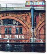 Berlin Street Art - Pull The Plug Canvas Print