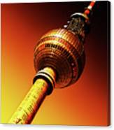 Berlin Television Tower - Berlin I Love You Canvas Print