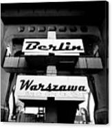 Berlin To Warsaw Frame 1  Canvas Print