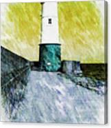 Berwick Lighthouse As Graphic Art. Canvas Print