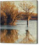 Beside Still Waters-color Canvas Print