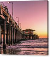 Beside The Pier By Mike-hope Canvas Print