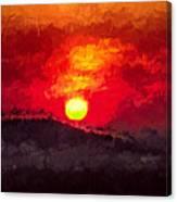 Beskidy Sunset Canvas Print