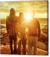 Best Friends Greeting The Sun Canvas Print