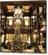 Best Western Plus Windsor Hotel Lobby - Christmas Canvas Print