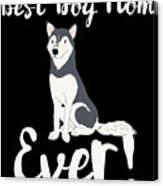 Bestdogmomever Husky Canvas Print