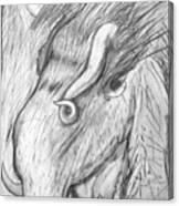 Bestia De Cuerno Espiralado. Canvas Print