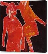Besties - Dancing Canvas Print