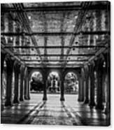 Bethesda Terrace Arcade 2 - Bw Canvas Print