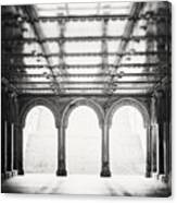 Bethesda Terrace In Black And White Canvas Print