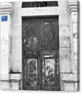 Bethlehem - Aged Door Canvas Print