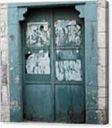 Bethlehem - Blue Door Canvas Print