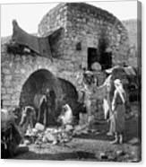 Bethlehem - Nativity Scene Year 1900 Canvas Print