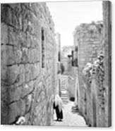 Bethlehem - Old Woman Walking 1933 Canvas Print