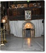 Bethlehem - Woman During Pray Canvas Print
