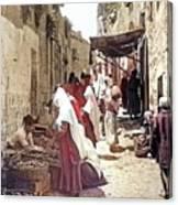 Bethlehem Market 1900 Canvas Print