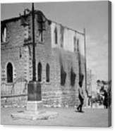 Bethlehem Police Barracks Burned Down On 1938 Canvas Print