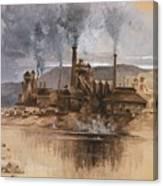 Bethlehem Steel Works In May 1881 Canvas Print