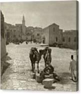 Bethlehem: Street, C1911 Canvas Print