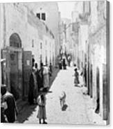 Bethlehem The Main Street 1800s Canvas Print