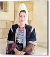 Bethlehem Traditional Dress 1940 Canvas Print